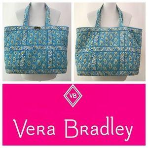 Vera Bradley Bermuda Blue Large Toggle Tote